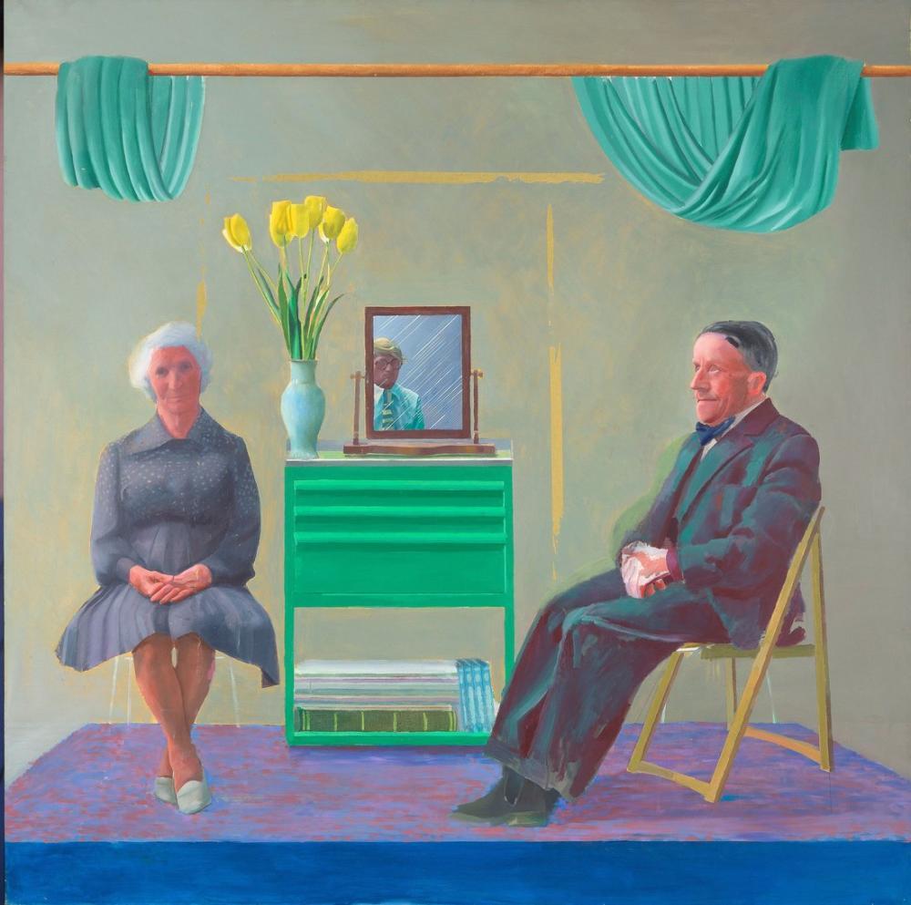David Hockney, Ebeveynlerim ve Kendim, Figür, David Hockney