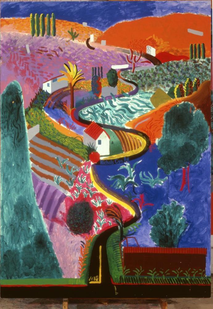 David Hockney, Nichols Canyon, Canvas, David Hockney, kanvas tablo, canvas print sales