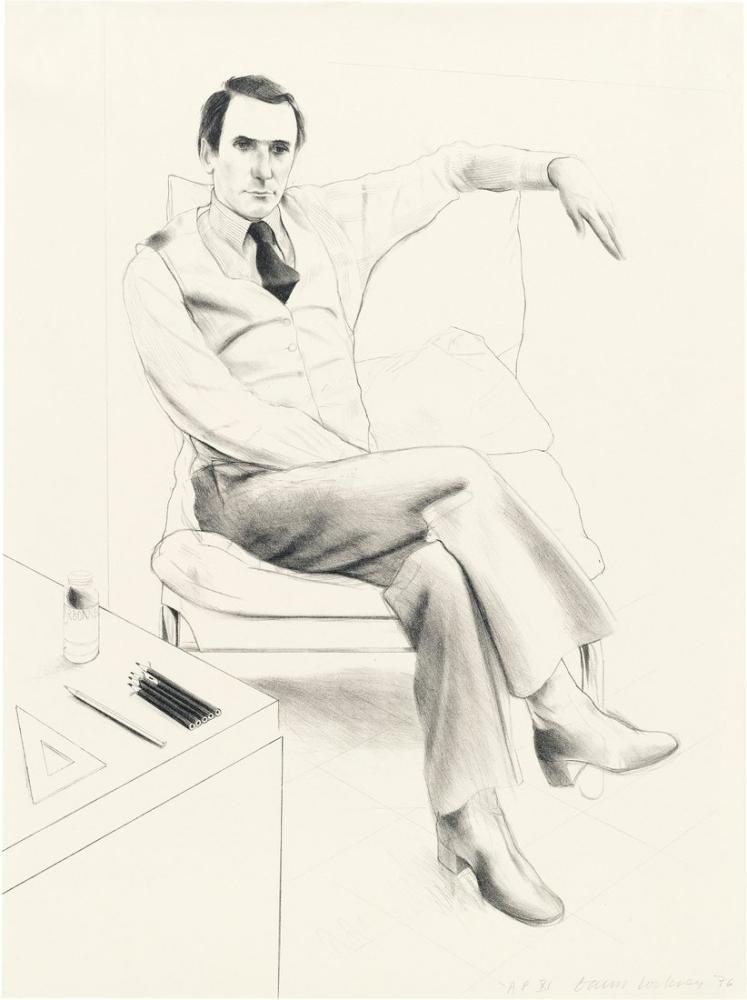 David Hockney, Nicholas Wilder, Figür, David Hockney