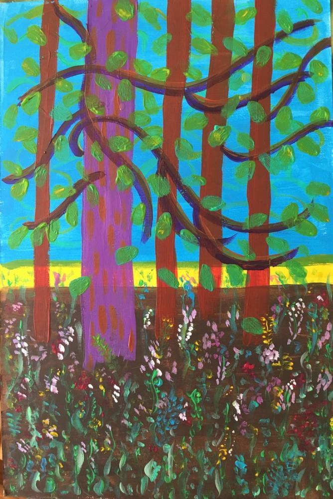 David Hockney, Nick Wilder, Kanvas Tablo, David Hockney