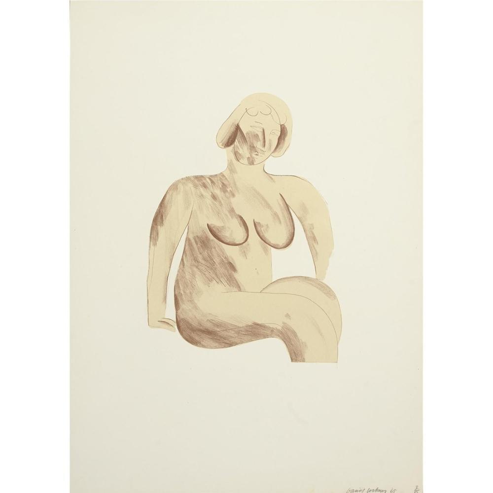 David Hockney, Çıplak Kadın, Figür, David Hockney