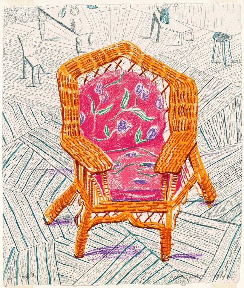 David Hockney, Bir Numaralı Sandalye, Kanvas Tablo, David Hockney, kanvas tablo, canvas print sales