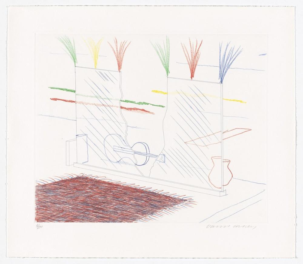 David Hockney, Mavi Gitar Üzerinde Gözü Kalabilir, Figür, David Hockney