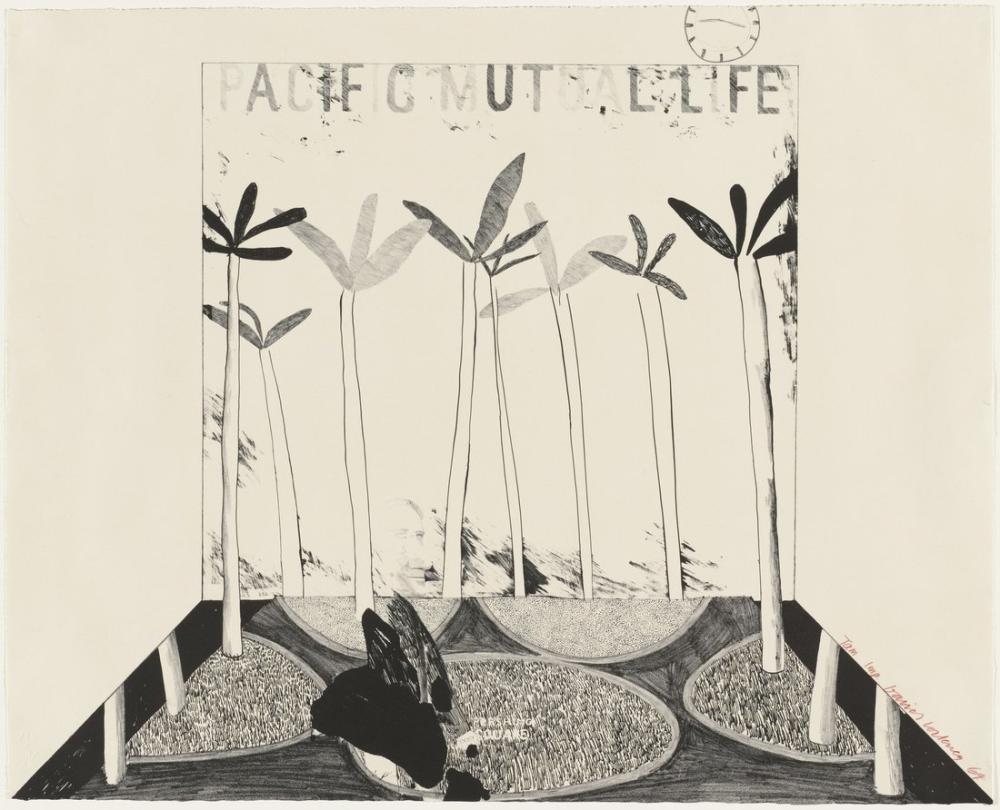 David Hockney, Pacific Mutual Life, Figure, David Hockney, kanvas tablo, canvas print sales