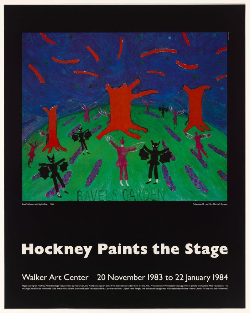 David Hockney, Sahneyi Boyar 1984, Figür, David Hockney