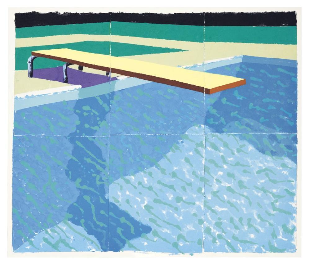 David Hockney, Kağıt Havuzu 14, Kanvas Tablo, David Hockney, kanvas tablo, canvas print sales