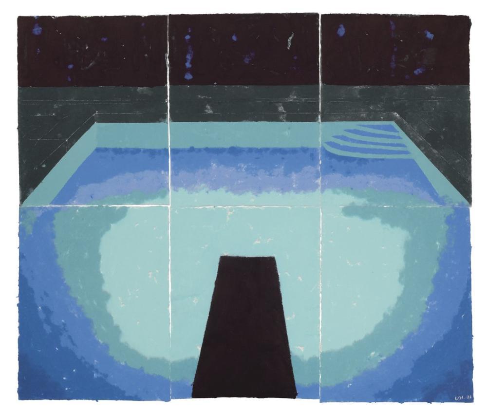 David Hockney, Kağıt Havuzu 30, Kanvas Tablo, David Hockney