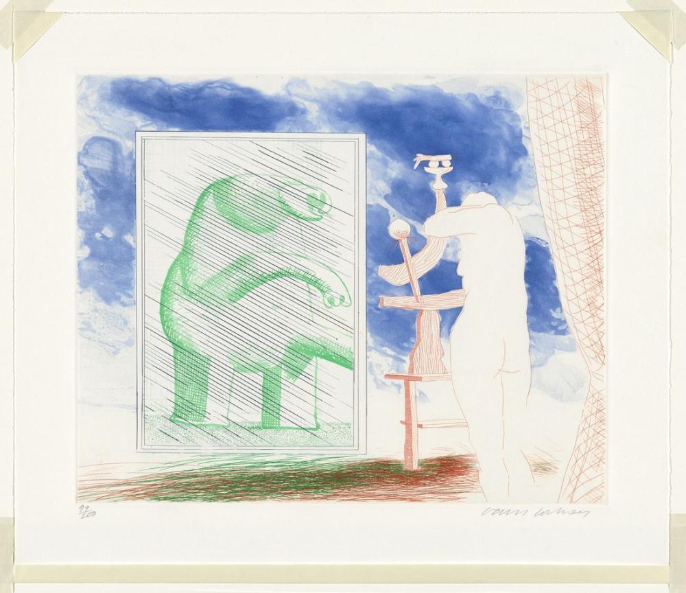 David Hockney, Kendimizin Bir Resmi, Figür, David Hockney