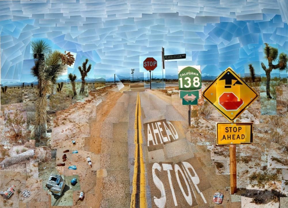 David Hockney, Pearblossom Otoyolu, Kanvas Tablo, David Hockney