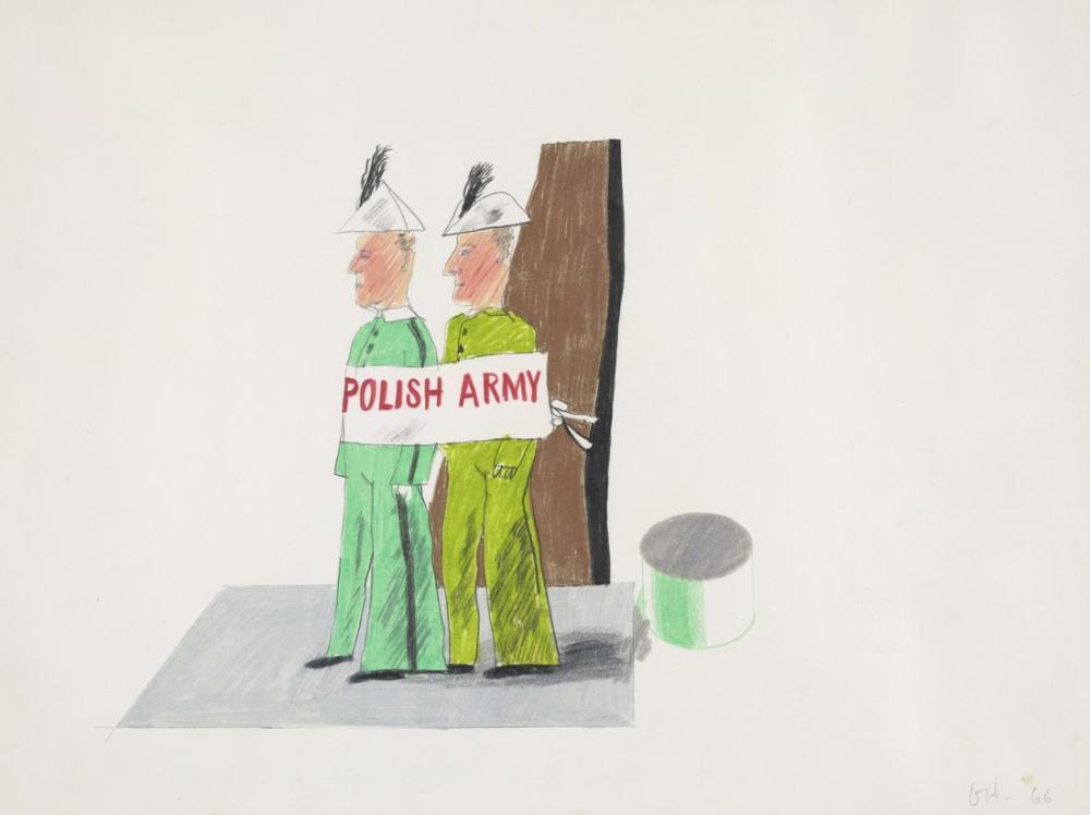 David Hockney, Père Ubu: Polonya Ordusu, Figür, David Hockney