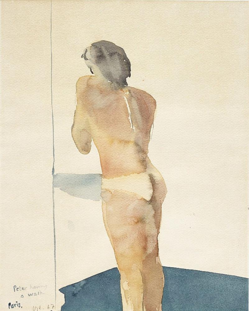 David Hockney, Peter Yıkanıyor, Figür, David Hockney