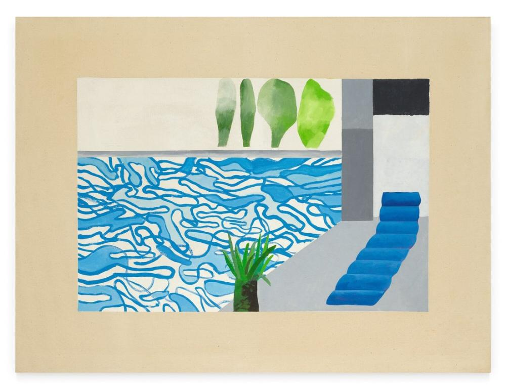 David Hockney, Picture of a Hollywood Swimming Pool, Canvas, David Hockney, kanvas tablo, canvas print sales