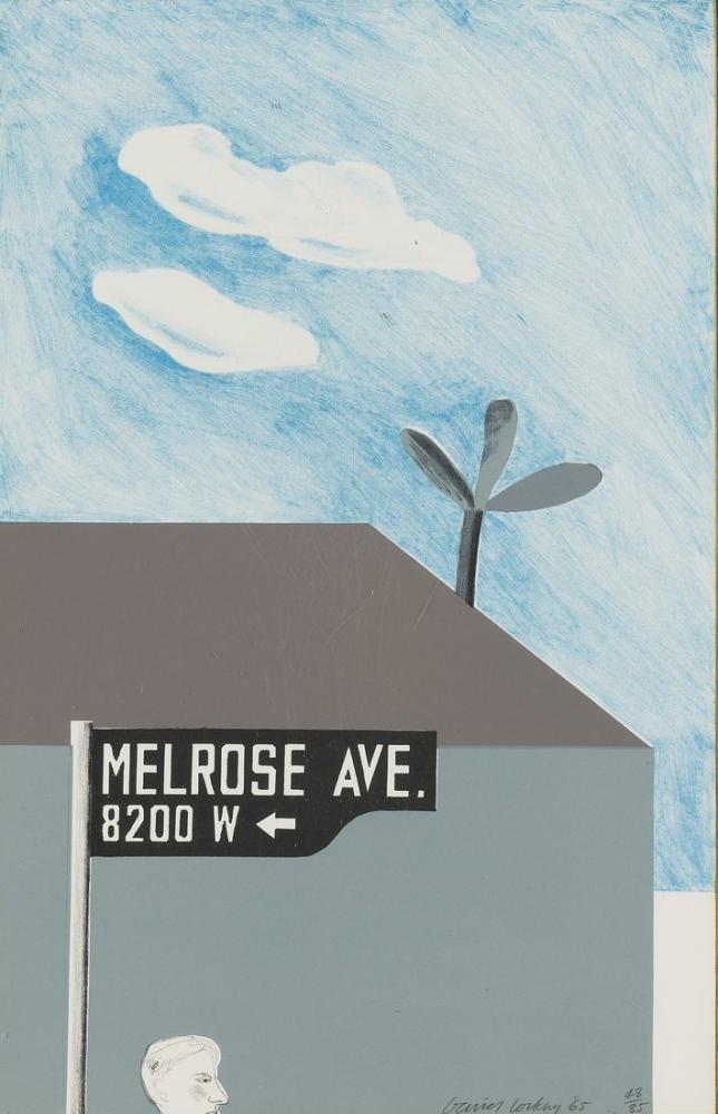 David Hockney, Süslü Melrose Bulvarı'nın Resmi, Kanvas Tablo, David Hockney