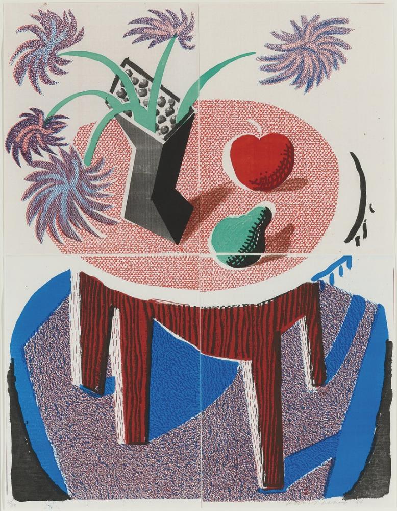 David Hockney, Elma ve Armut, Kanvas Tablo, David Hockney, kanvas tablo, canvas print sales