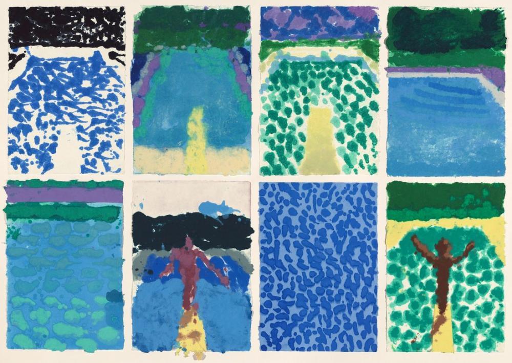 David Hockney, Havuzlar, Kanvas Tablo, David Hockney