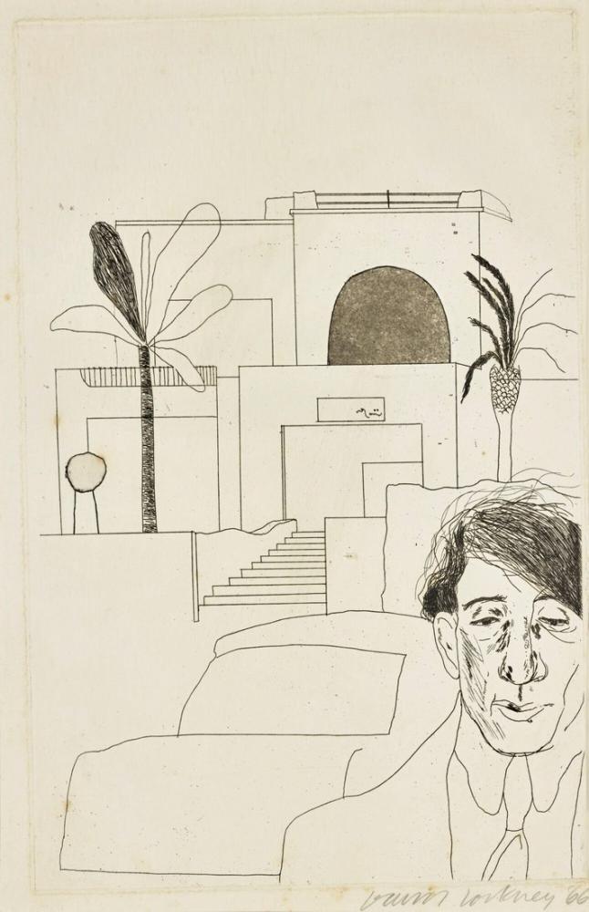 David Hockney, Cavafy Portresi, Figür, David Hockney