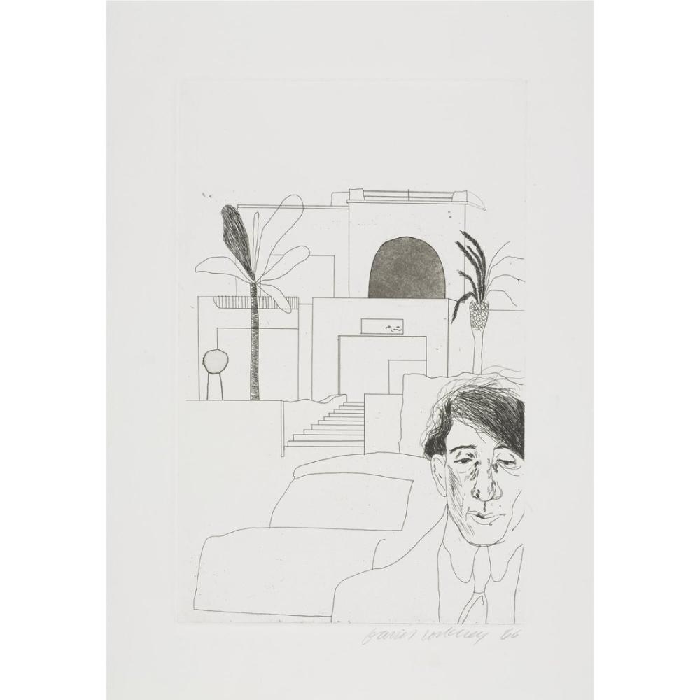 David Hockney, Cavafy Portresi II, Figür, David Hockney