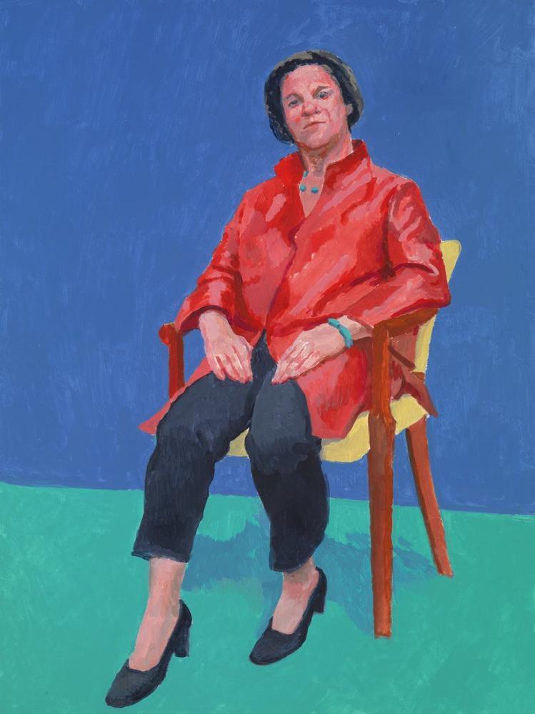 David Hockney, Portreler 82 ve Bir Natürmort, Figür, David Hockney