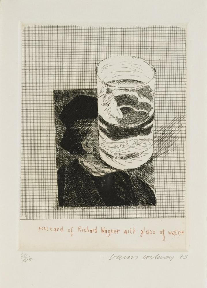 David Hockney, Richard Kartpostal, Figür, David Hockney