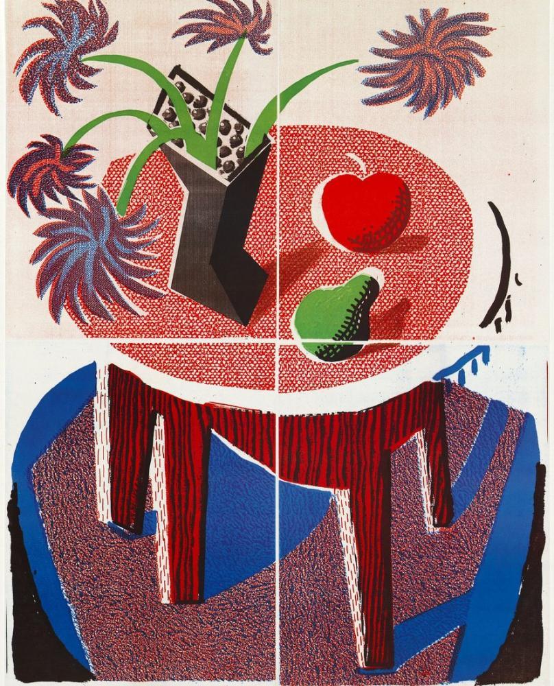 David Hockney, Poster: Fiesta 88 1988, Figür, David Hockney
