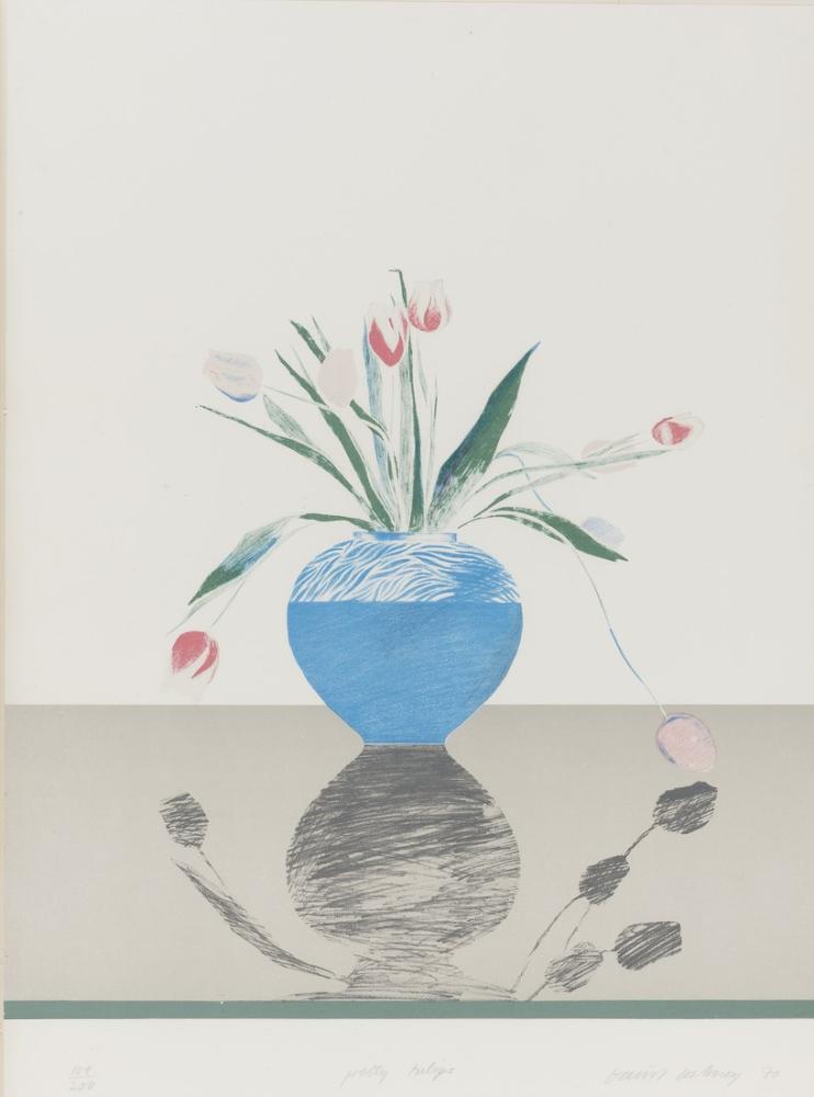 David Hockney, Güzel Laleler, Kanvas Tablo, David Hockney