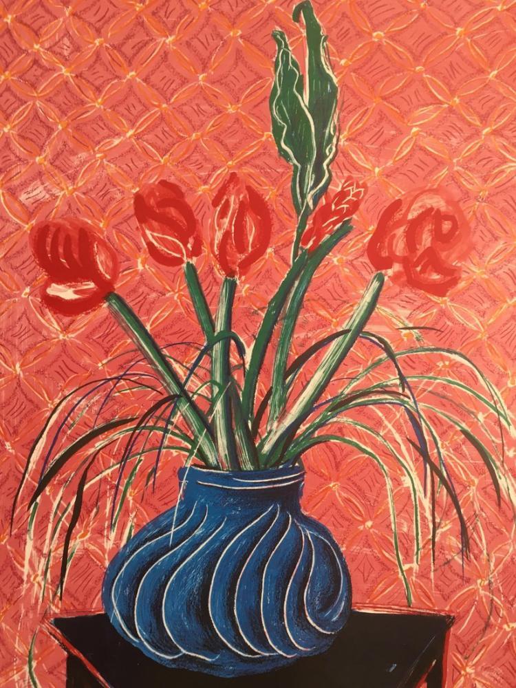 David Hockney, Tyler Graphics'ten Baskılar, Kanvas Tablo, David Hockney