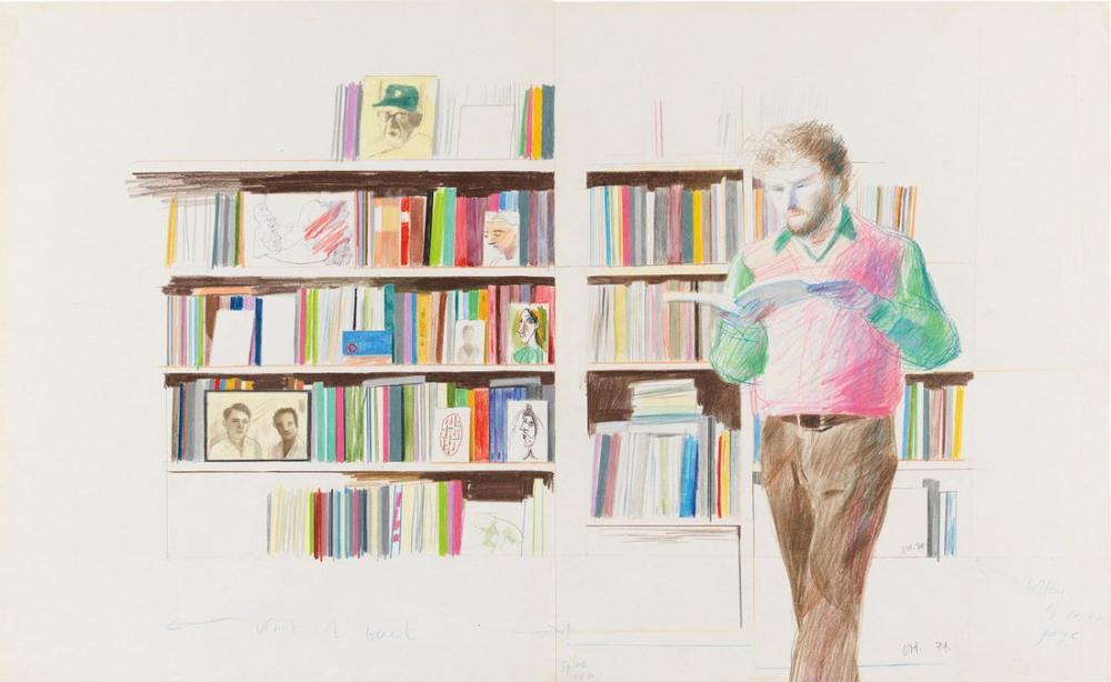 David Hockney, Ron Kitaj Okuma, Figür, David Hockney