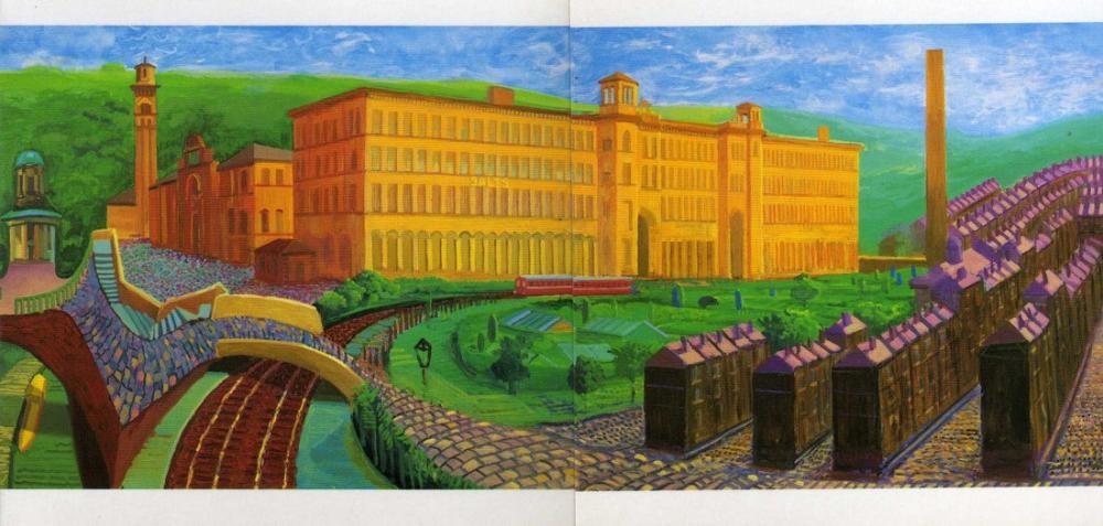 David Hockney, Tuz Değirmeni, Kanvas Tablo, David Hockney