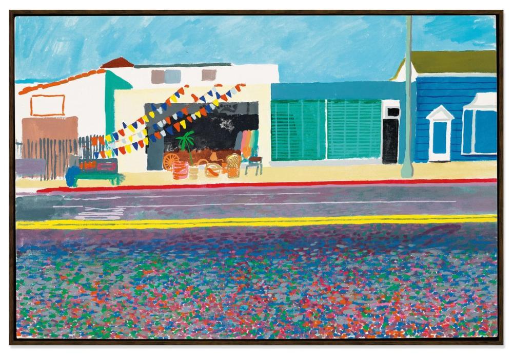 David Hockney, Santa Monica Bulvarı, Kanvas Tablo, David Hockney