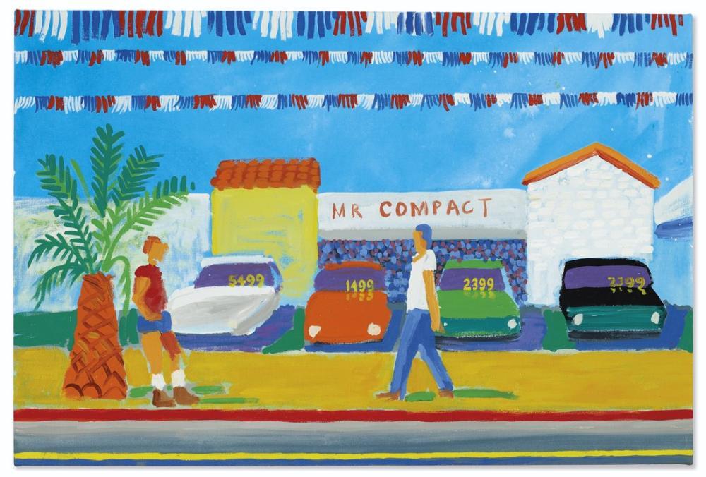 David Hockney, Santa Monica Bulvarı, Figür, David Hockney
