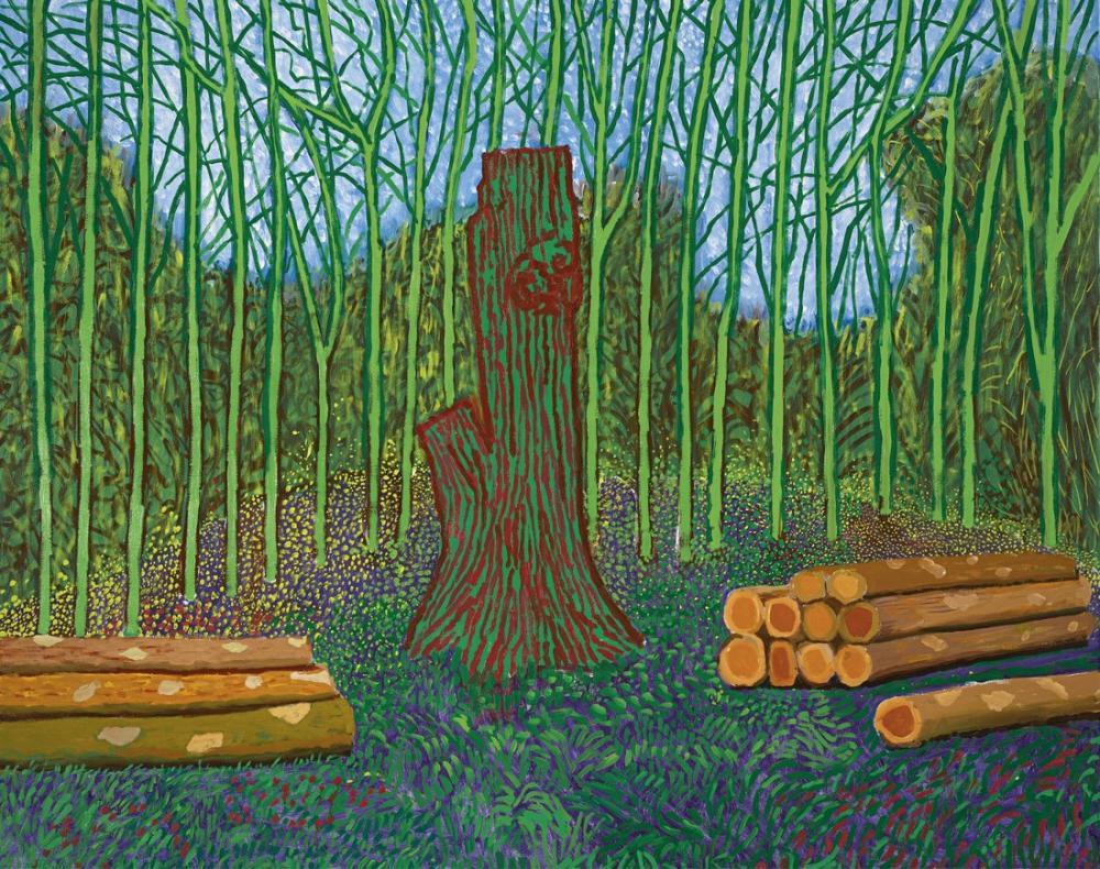 David Hockney, Arranged Felled Trees, Canvas, David Hockney, kanvas tablo, canvas print sales