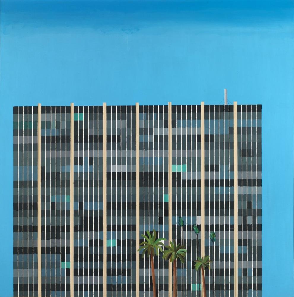 David Hockney, Tasarruf ve Kredi Binası, Kanvas Tablo, David Hockney