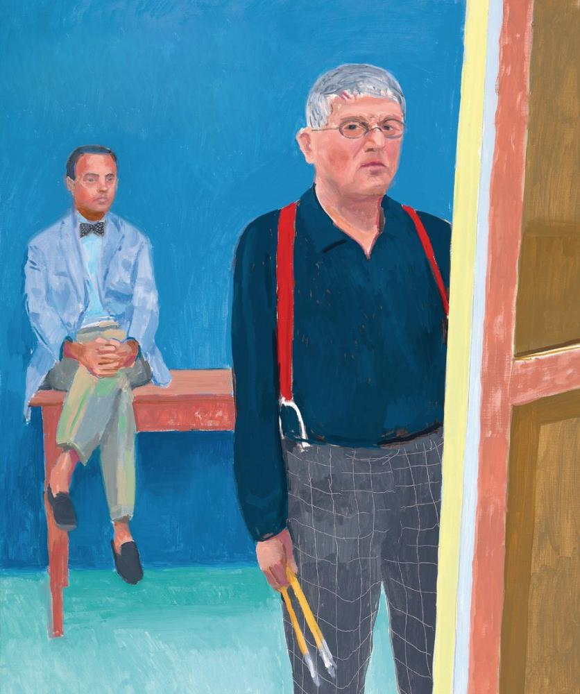 David Hockney, Self Portrait, Figure, David Hockney, kanvas tablo, canvas print sales