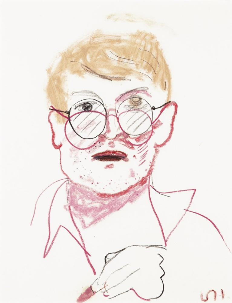 David Hockney, Otoportre, Figür, David Hockney, kanvas tablo, canvas print sales