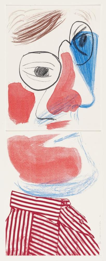 David Hockney, Self Portrait, Figure, David Hockney, kanvas tablo, canvas print sales