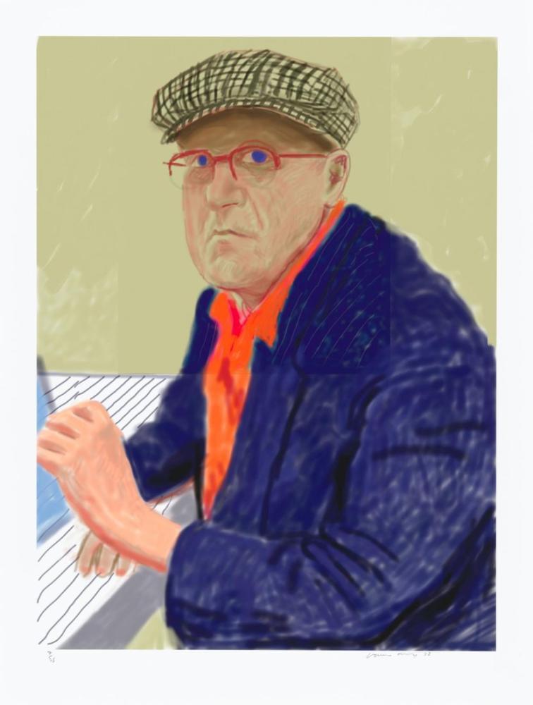 David Hockney, Self Portrait II, 14 March 2012, Figure, David Hockney, kanvas tablo, canvas print sales