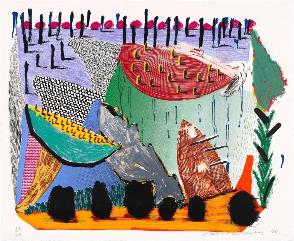 David Hockney, Yavaş Yükseliş 1994, Kanvas Tablo, David Hockney