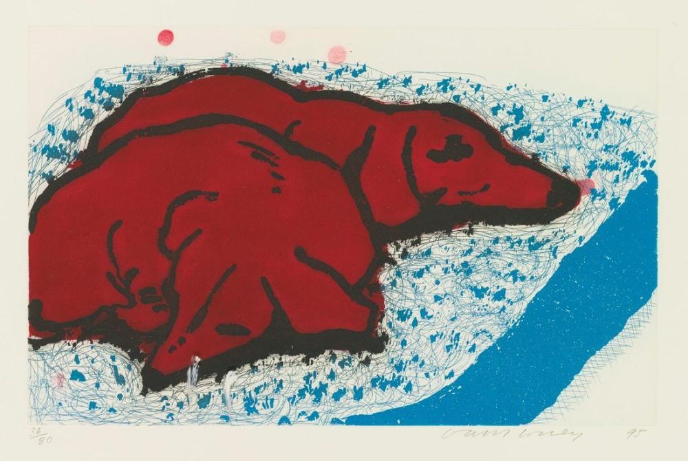 David Hockney, Küçük Köpekler, Figür, David Hockney