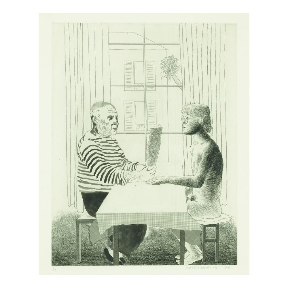 David Hockney, Sanatçı ve Model, Figür, David Hockney