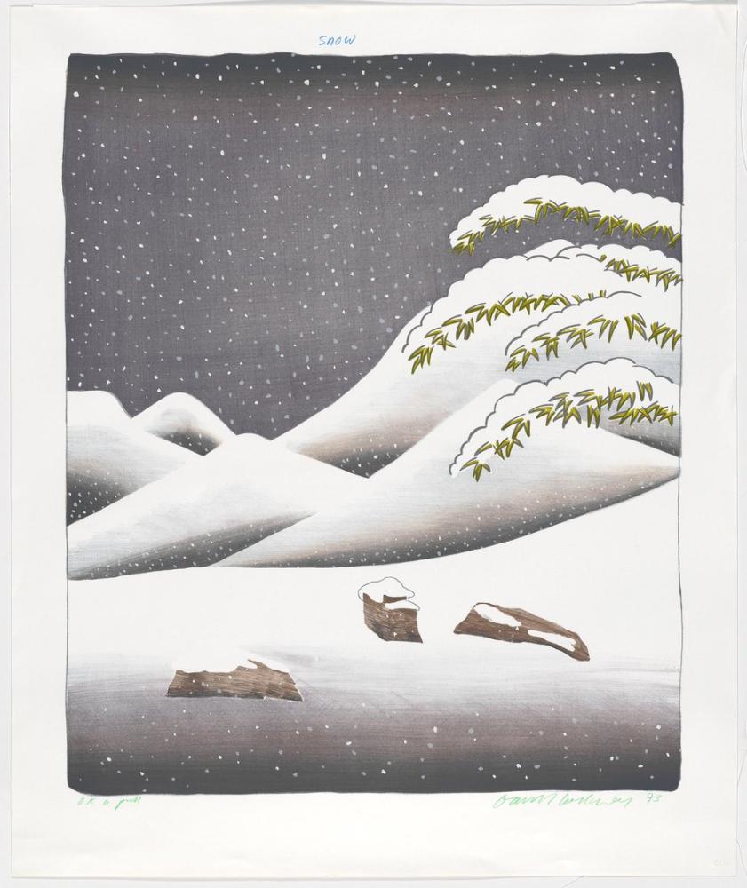 David Hockney, Kar, Kanvas Tablo, David Hockney, kanvas tablo, canvas print sales