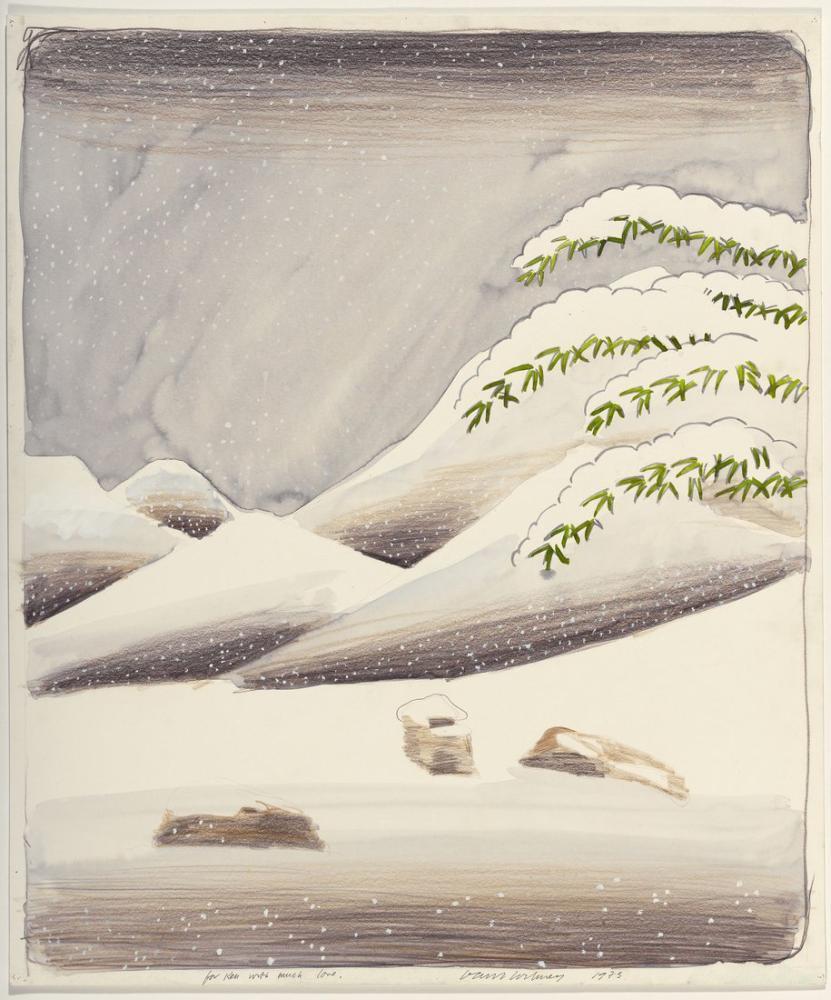 David Hockney, Kar Çalışması, Kanvas Tablo, David Hockney