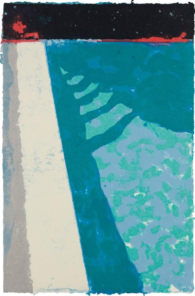 David Hockney, Gölge Havuzu F ile Adımlar, Kanvas Tablo, David Hockney
