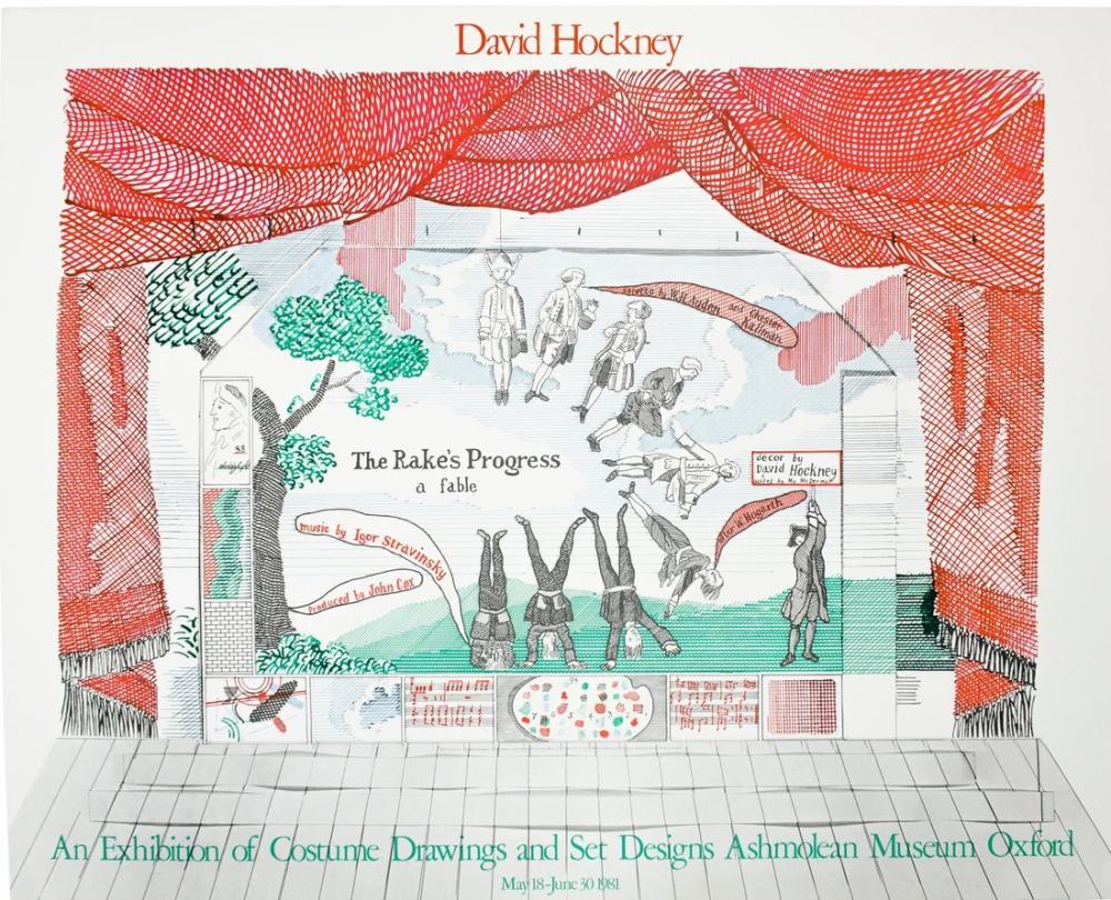 David Hockney, Ashmolean Rakes Progress ec Master, Figure, David Hockney, kanvas tablo, canvas print sales