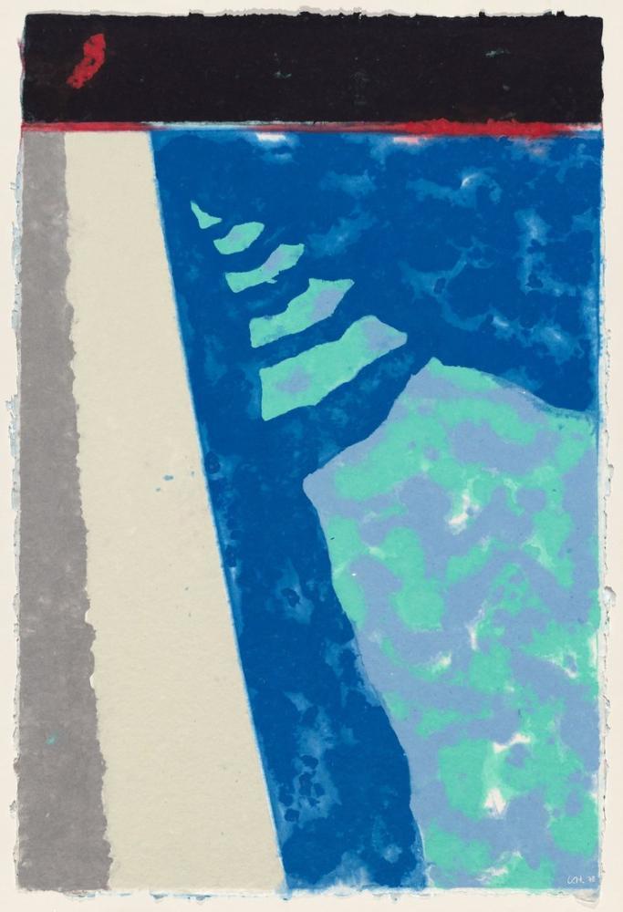 David Hockney, Gölge Havuzu H ile Adımlar, Kanvas Tablo, David Hockney