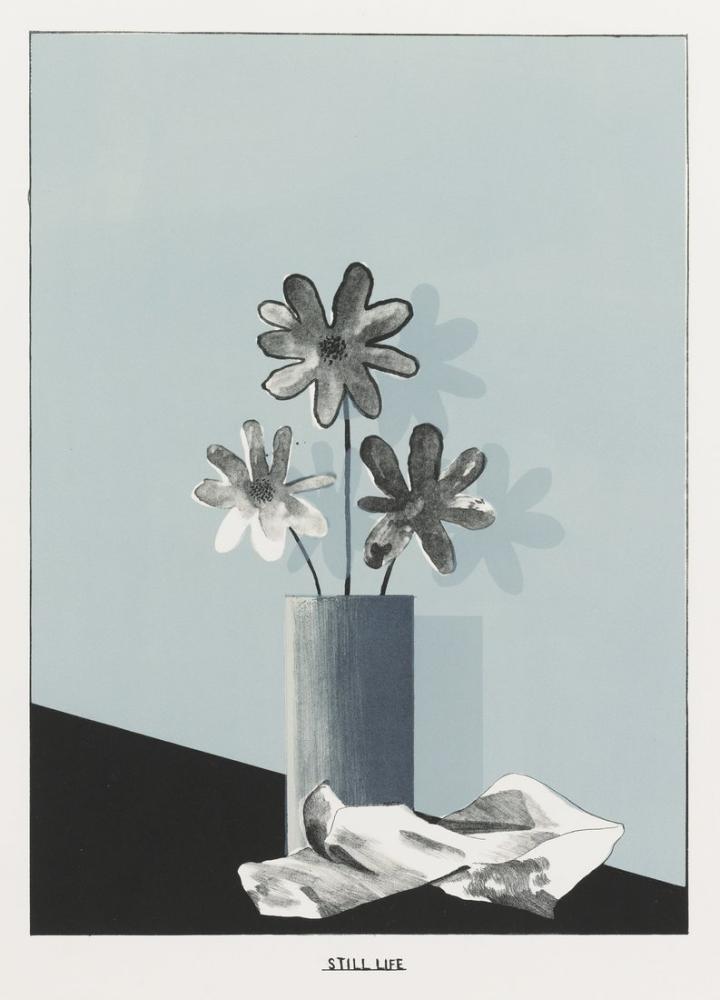 David Hockney, Natürmort, Kanvas Tablo, David Hockney