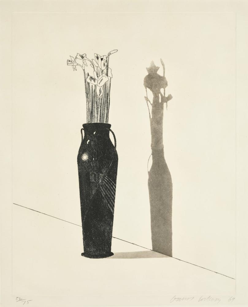 David Hockney, Natürmort Şişesi, Kanvas Tablo, David Hockney