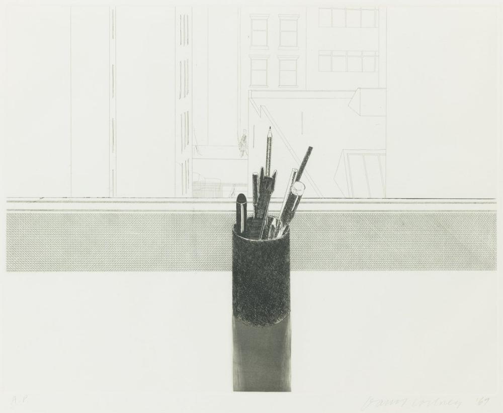 David Hockney, Natürmort Silindir, Figür, David Hockney