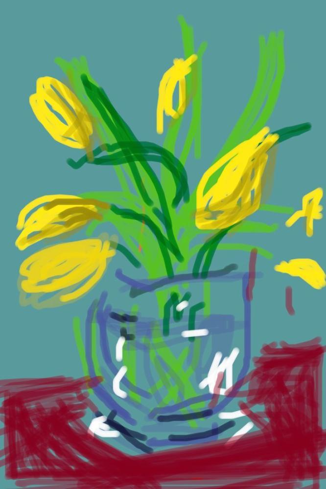 David Hockney, Natürmort İsimsiz, 91, Kanvas Tablo, David Hockney