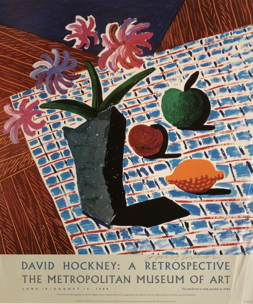 David Hockney, Çiçeklerle Natürmort, Figür, David Hockney
