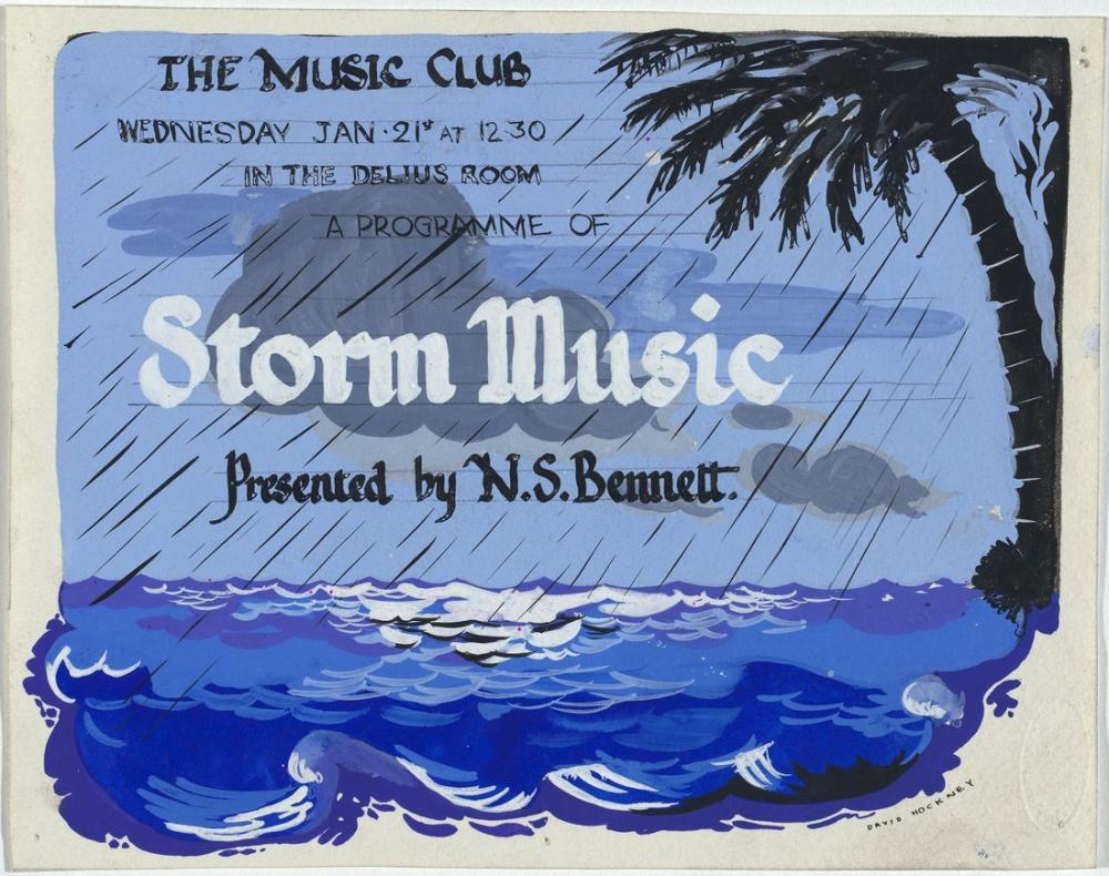 David Hockney, Fırtına Müziği 1952, Kanvas Tablo, David Hockney, kanvas tablo, canvas print sales